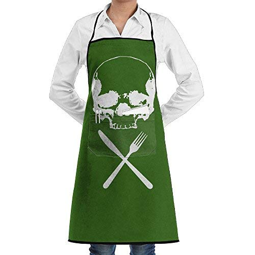 Bigkhhk Men&Women HALLOWEEN Food Horror Recipe Adjustable Straps Kitchen Apron Chef Bib Apron With Pockets Idea For Cooking,Crafting,Gardening,BBQ]()