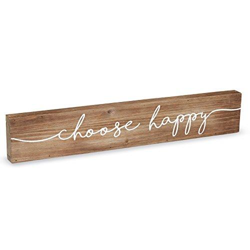 Mud Pie 4345092C Natural Wood Sentiment Stick Choose Happy ()