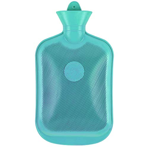 sic Rubber Hot Water Bottle, Great for Pain Relief, Hot and Cold Therapy (2L, Green) ()