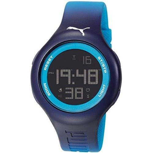 Puma PU910801030 Loop L Blue Digital Sports Silicone Watch