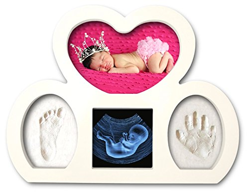 Newborn-Babyprints-Kit-by-Epicoz-Baby-Handprint-and-Footprint-Photo-Frame-Keepsake-Cool-Unique-Gift-Idea-for-Baby-Boys-and-Girls-White-New-Design