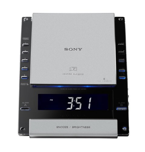 Sony ICF-CD7000BLK AM/FM Stereo CD Clock Radio (Discontinued by Manufacturer)