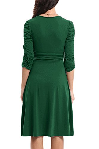 Women's Dress Army YMING Party Dresses Army Swing 1950S Vintage Green Green Cocktail SdzBd4q