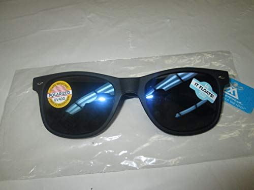 - Maxx Zoom Water Sport Boating Sunglasses Hydro Float Black Frame with Polarized Blue Mirror Lens