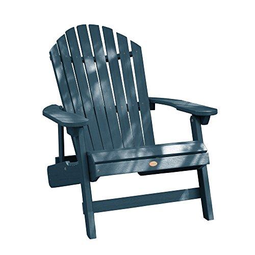 Highwood AD-KING1-NBE Hamilton Adirondack Chair, King, Nantucket Blue (Papa Chair)