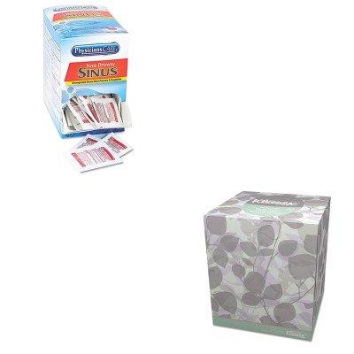 KITACM90087KIM21272 - Value Kit - Kimberly Clark 21272 Kleenex Natural Boutique Facial Tissue, White (KIM21272) and Physicianscare Sinus Decongestant Congestion Medication (ACM90087)