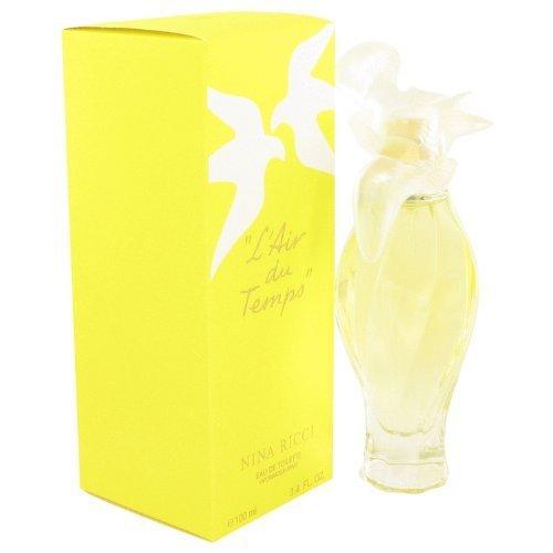 (L'AIR DU TEMPS by Nina Ricci Women's Eau De Toilette Spray W/Bird Cap 3.3 oz - 100% Authentic by Nina)