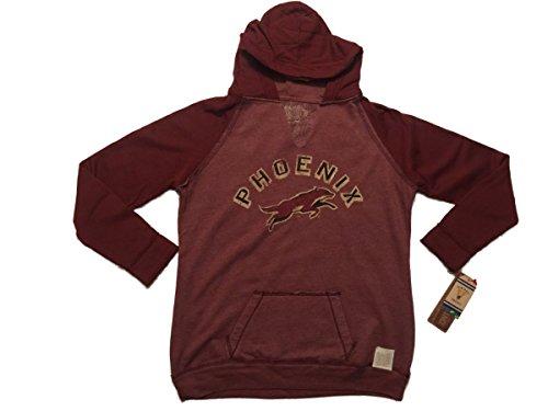 Phoenix Coyotes Retro Brand Women Maroon Fleece Pullover Hoodie Sweatshirt (L)