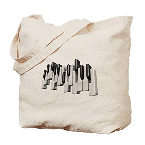 CafePress–teclas de Piano–Gamuza de bolsa de lona bolsa, bolsa de la compra