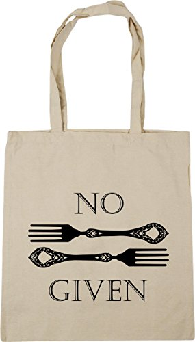 x38cm HippoWarehouse Bag Natural litres Beach Forks No Gym 10 42cm Shopping Given Tote rRrwZz