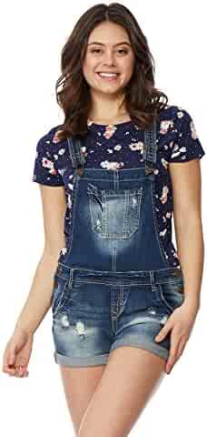 b3cc54247af WallFlower Women s Juniors Denim Shortalls