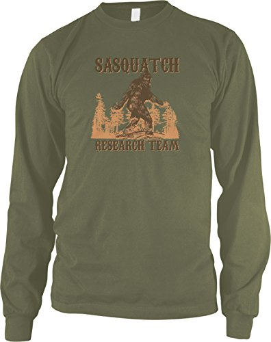 Amdesco Men's Sasquatch Research Team Long Sleeve Shirt, Moss Green ()