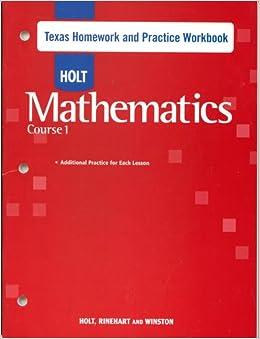 Holt mathematics homework help online