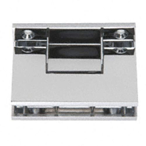 CRL C.R. Laurence Polished Chrome Geneva 3-Point Movable Square Style Transom Clamp By HandsOnCo