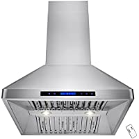 AKDY 30 Stainless Steel Wall Mount Style Touch Screen Control Kitchen Vent Fan Range Hood