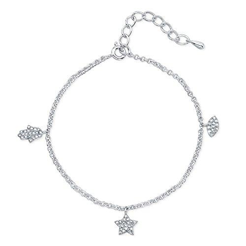 Victoria Kay 1/4ct White Diamond Charm Bracelet in Sterling Silver (J-K, I2-I3)