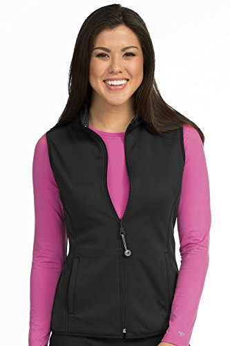 Med Couture Performance Fleece Vest for Women, Black, Large
