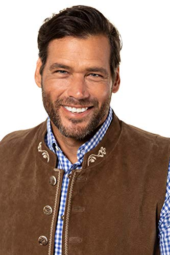 JP 1880 Homme Grandes Tailles Veste sans Manches, Style Bavarois Marron 3XL 723464 30-3XL