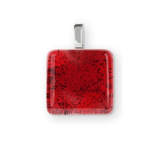 Smart digital NFC red pendant, wearable, fashion and technology