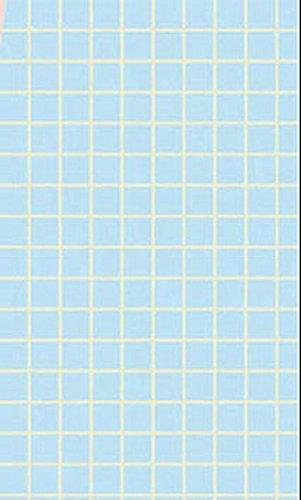 - Dollhouse Miniature Small Blue Check Tile Flooring