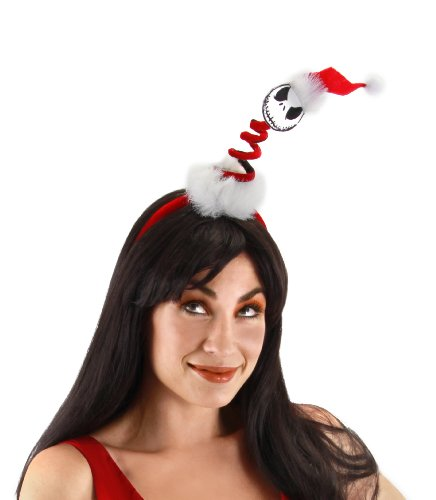 elope Nightmare Before Christmas Mini Springy Santa Jack Headband (Jack From Nightmare Before Christmas Costume)