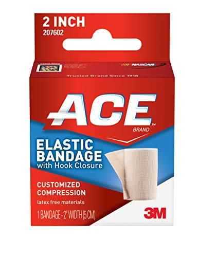 (ACE Elastic Bandage with Hook Closure, 2 Inches Width (Pack of 2))
