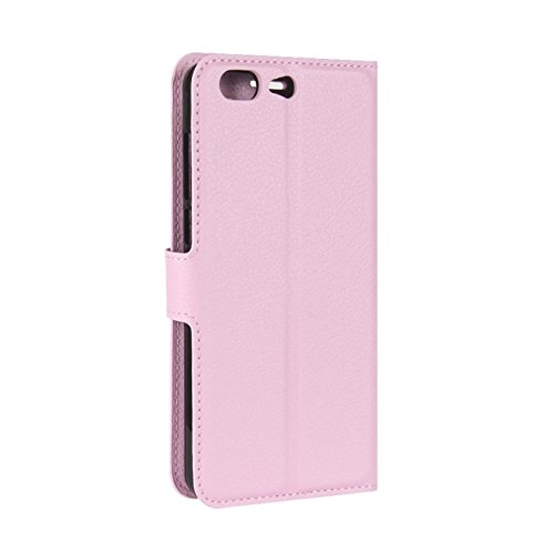 Handmade Flip Leagoo Retro Case HualuBro Pink T5 PU Phone T5 Protective for Wallet Cover Card Holder ID Wallet Leather Leagoo with Credit Case Brown Slots Wwqqx8tPYR