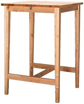 Ikea Bjorkudden Table De Bar En Bois De Bouleau 70 X 70 Cm