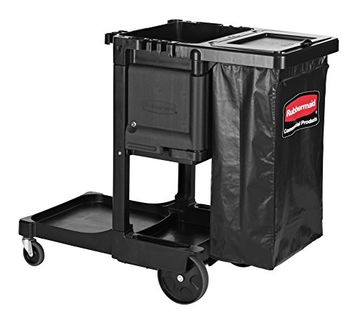 Cart Janitorial (Rubbermaid Commercial Products Executive Series Housekeeping Cart, Black (1861430))