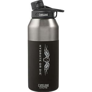 CamelBak 54157 Chute Vacuum Insulated HoD Water Bottle, 20 oz, Stainless, Jet Black