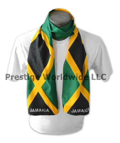 """Jamaican Flag Print Scarf 64""""x8"""" Jamaica One Size Fits All"""