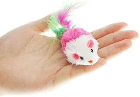 Aftermarket Furry Pet Cat Toys Mice, Cat Toy Mouse, Pet Toys for Cats, Cat Catcher for Feather Tails, 10 Counting 7