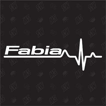 Speedwerk Motorwear Fabia Herzschlag Sticker Kompatibel Mit Skoda Auto