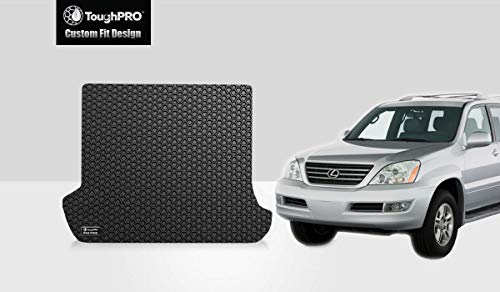 ToughPRO Cargo/Trunk Mat Compatible with Lexus GX470 - All Weather - Heavy Duty - (Made in USA) - Black Rubber - 2003, 2004, 2005, 2006, 2007, 2008, 2009