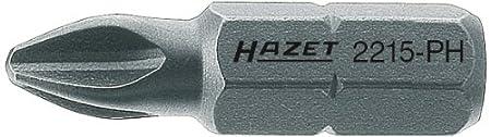 Hazet 2215-PH2 Embout-tournevis hexagone massif 1//4 Taille PH2 longueur/ 25 mm