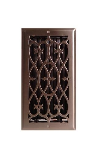 Wood Venture Brushed Nickel Victorian Floor Grate - 614SVN