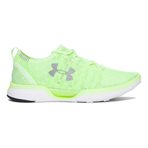 Underarmour UA W Charged MailOrderMusic Witch Run – Lime Fizz | White, Tamaño #: 5.5