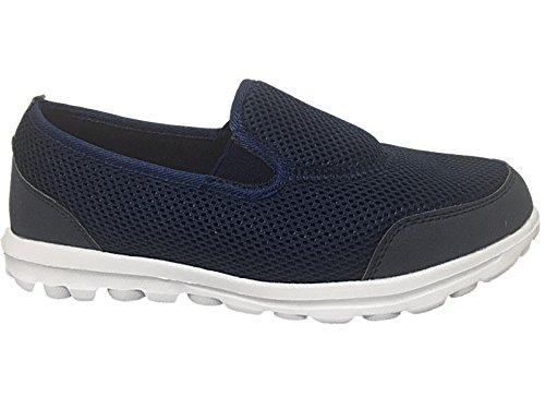 Chaussures de sport/marche souples sans lacets Unisexe adultes Pointure 35-46 bleu marine/orange rGlArXG9Fh
