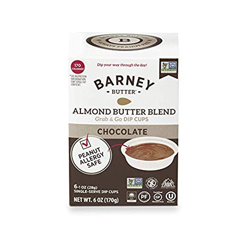 BARNEY Almond Butter Blend Grab & Go Dip Cups CHOCOLATEPeanut Allergy Safe (1-Box 6 1 oz Cups)