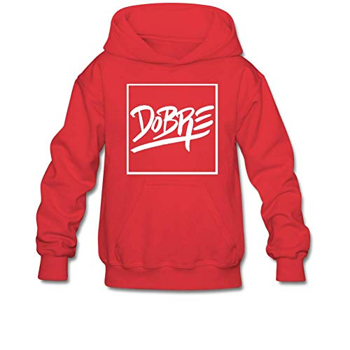 Aliensee Youth Dobre Brothers Hoodie Sweatshirt Suitable for 10-15yr Old S Red