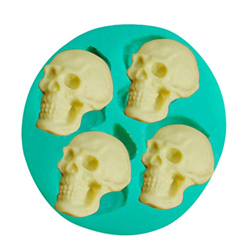 ️ Yu2d ❤️❤️ ️Skull Head Silicone Fondant Cake Mould Chocolate Mold Halloween Party Exquisite -