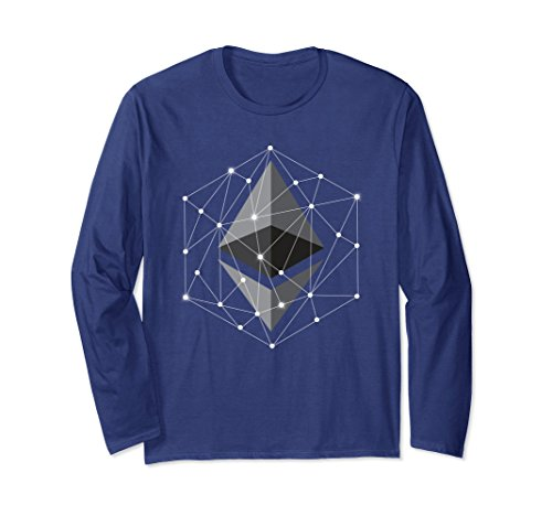 Unisex Ethereum Polygon Network Connection Long Sleeve Tshirt Xl  Navy