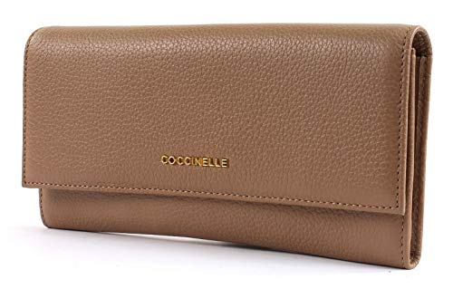 Metallic Flat Coccinelle Desert Wallet Soft Marrone Flap agHgqdx8wE