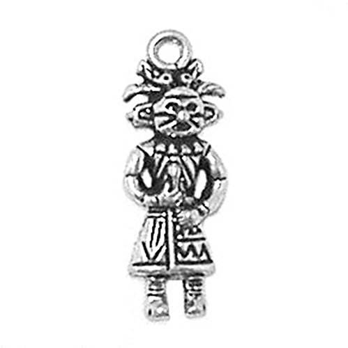 925 Sterling Silver Kachina Charm Pendant Native American Indian Wild West
