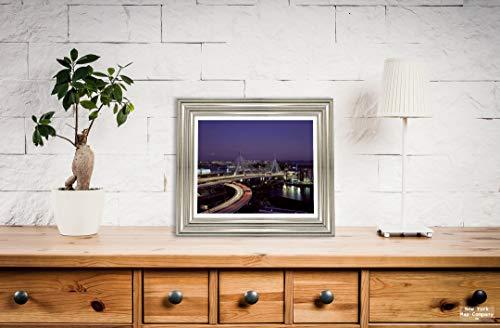 New York Map Company  Boston, MA - Photo - Leonard P. Zakim Bunker Hill Bridge at Night.- Highsmith |Size: 8x10|Ready to Frame