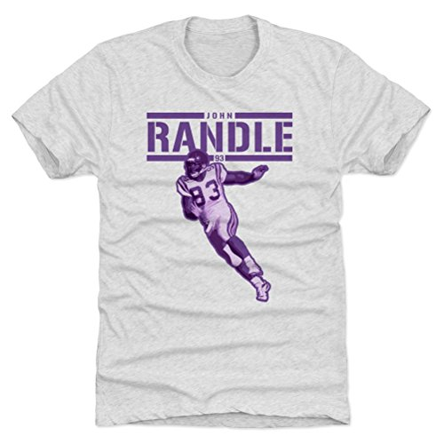 - 500 LEVEL John Randle Triblend Shirt XXX-Large Tri Ash - Vintage Minnesota Vikings Men's Apparel - John Randle Play P