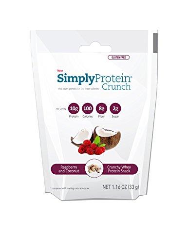 Il suffit de protéines Protein Crunch Crunch simplement, framboise, noix de coco, 0,073 Pound (Pack de 12)