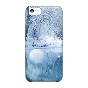Premium Frozen Lake Heavy-duty Protection Case For Iphone 5c