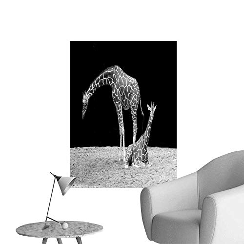 "SeptSonne Wall Stickers for Living Room A Long Leg of Giraffe Vinyl Wall Stickers Print,28"" W x 52"" L"