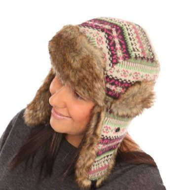 i-Smalls Ladies Knitted Trapper Hat One Size